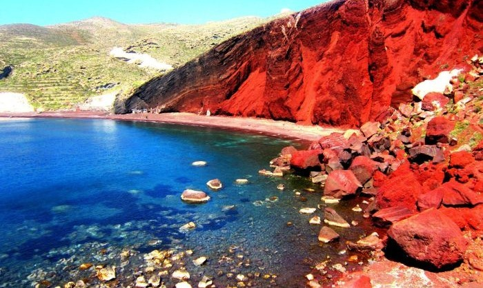 Red Beach Santorini Ranked 4th Among The Most Colorful Beaches In World