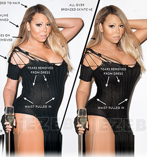 photoshop after carey Mariah before and