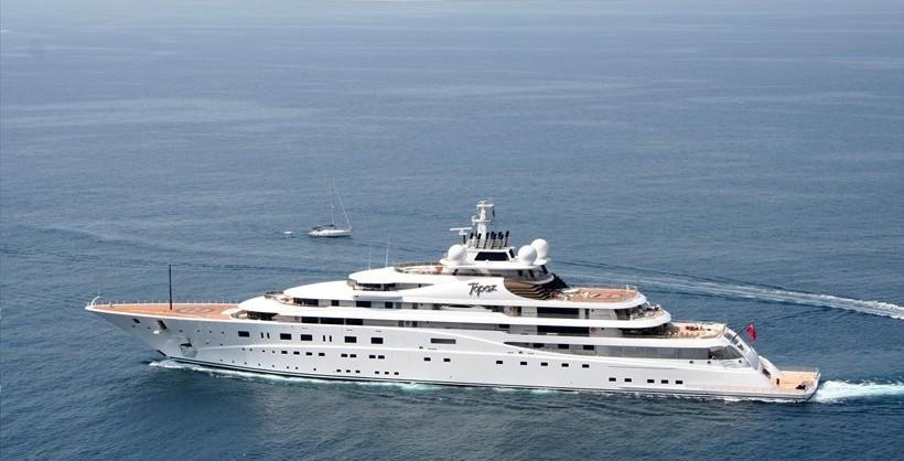 Topaz Yacht Owned By Sheikh Mansour Bin Zayed Al Nahyan Visits