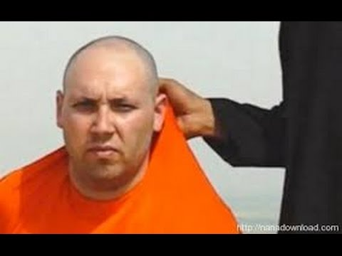 Steven Sotloff at the end of the video showing James Foley's execution