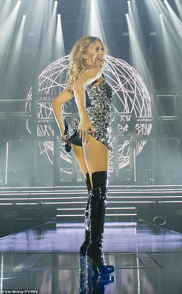 Kylie Minogue Kicks Off Her European Tour In Sexy Lingerie