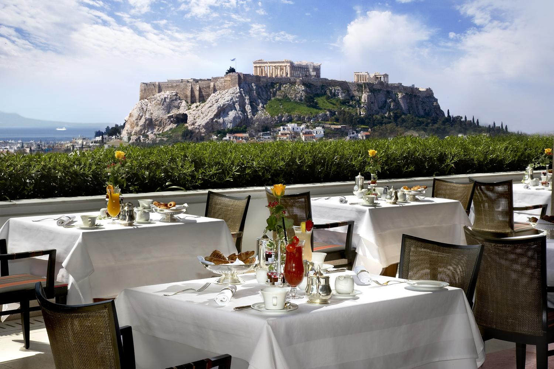 Greece S Gb Roof Garden Among The 101 Best Hotel Restaurants Around The World