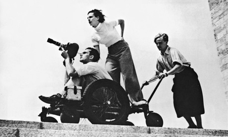 Leni Fiefenstahl filming at the Berlin Olympics