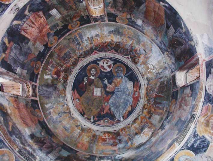 Frescoes in Kaisariani Monastery