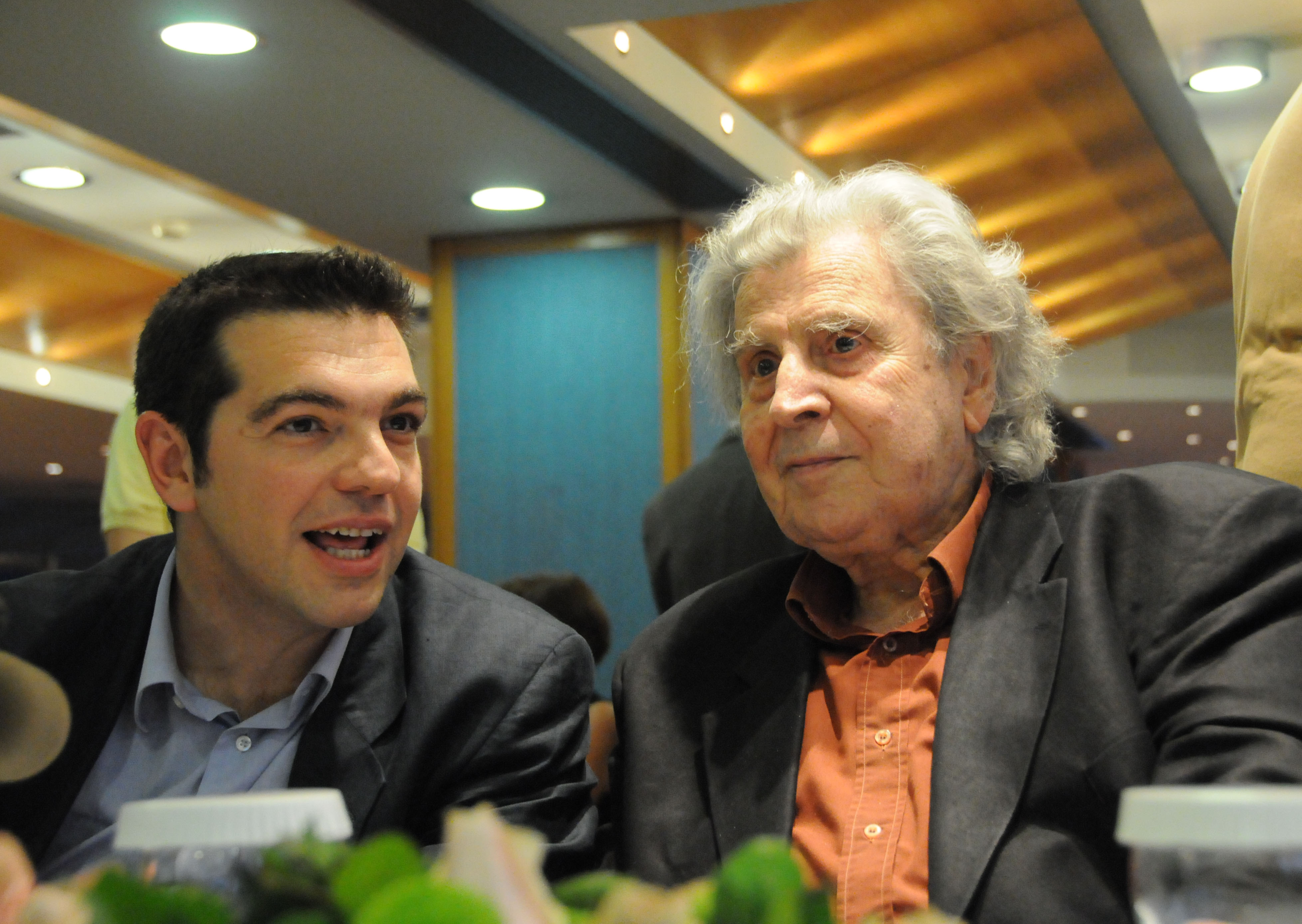 The great composer with SYRIZA leader Alexis Tsipras