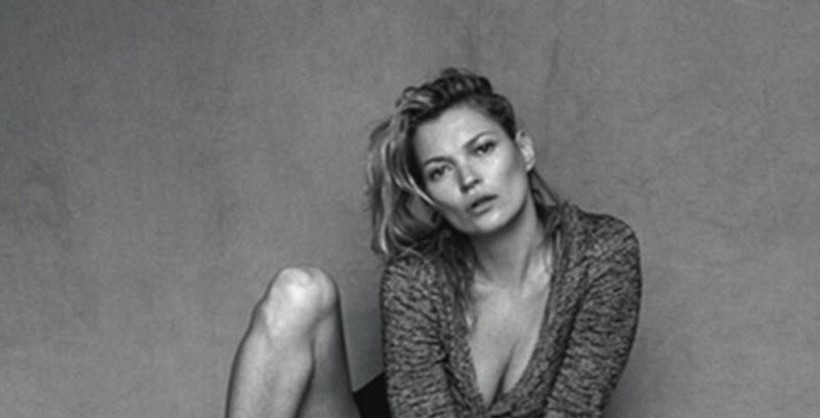 Kate moss topless with
