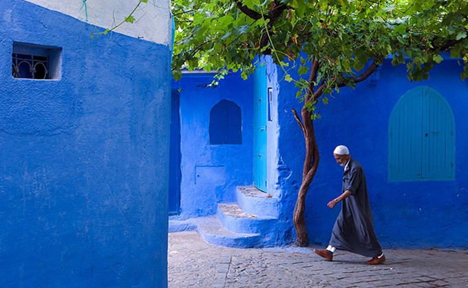 Blue City Of Chefchaouen In Mountainous Morocco