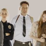 AQUARIUS -- Season: 1 -- Pictured: (l-r) Grey Damon as Shafe, Claire Holt as Charmain, David Duchovny as Hodiak, Emma Dumont as Emma Gethin, Anthony as Manson -- (Photo by: Jim Fiscus/NBC)