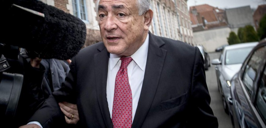 "Ex-IMF chief Dominique Strauss-Kahn  leaves his hotel  on his way to the Lille courthouse, northern France, to attend a trial where he is charged alongside 13 others for ""aggravated pimping"" on February 12, 2015.  Strauss-Kahn steadfastly denies knowing that the women with whom he engaged in ""free and friendly"" libertinism were prostitutes, saying paying for sex would be too great a risk for a man at the head of the International Monetary Fund, which was busy ""saving the world from an unprecedented"" financial crisis. AFP PHOTO / PHILIPPE HUGUEN        (Photo credit should read PHILIPPE HUGUEN/AFP/Getty Images)"