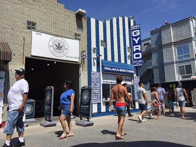 Gyros by … Malaka Bros  doing brisk business on California