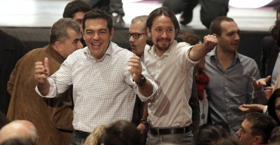 Αποτέλεσμα εικόνας για tsipras podemos