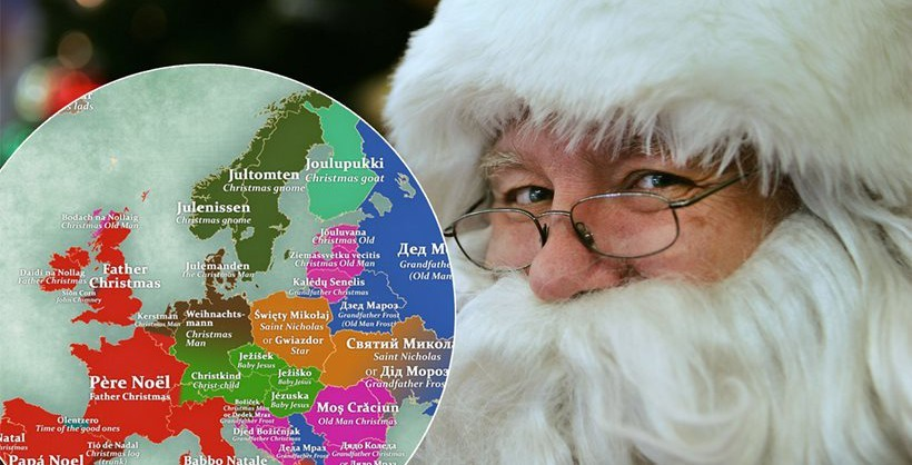 Here s what santa claus is called in different countries around the