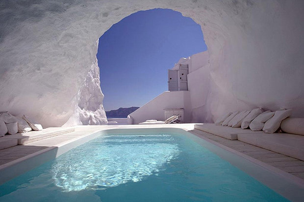 A Greek Hotel Among Worlds Most Unusual Places To Stay - Unusual-swimming-pools-around-the-world
