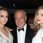 The de Grisogono 'Fatale In Cannes' party during the 67th Cannes Film Festival at Hotel Eden-Roc.   Pictured: Cara Delevingne, Fawaz Gruosi and Amber Heard Ref: SPL763975  210514   Picture by: KCS Presse / Splash News  Splash News and Pictures Los Angeles:	310-821-2666 New York:	212-619-2666 London:	870-934-2666 photodesk@splashnews.com