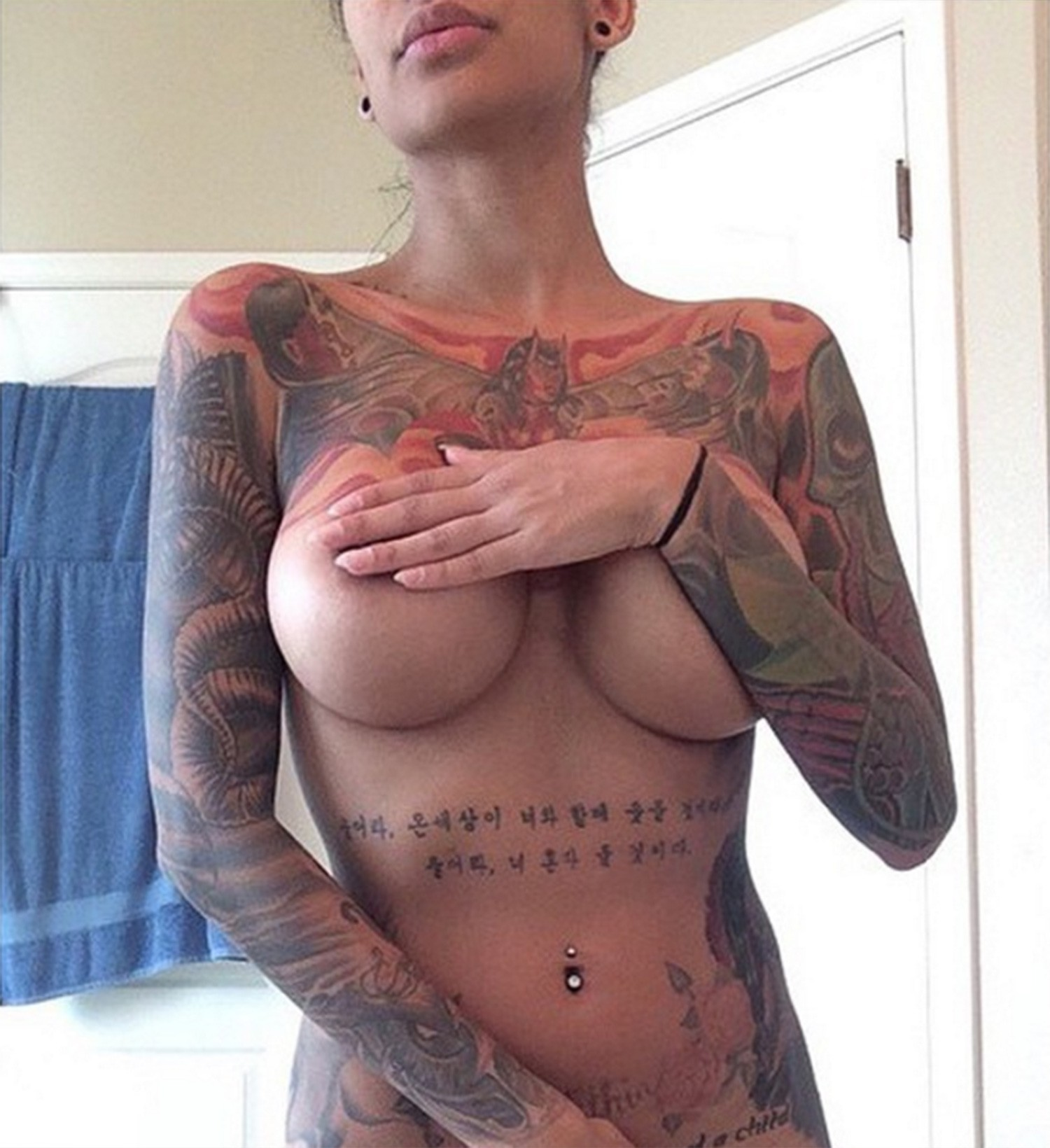 tattoos on a boob