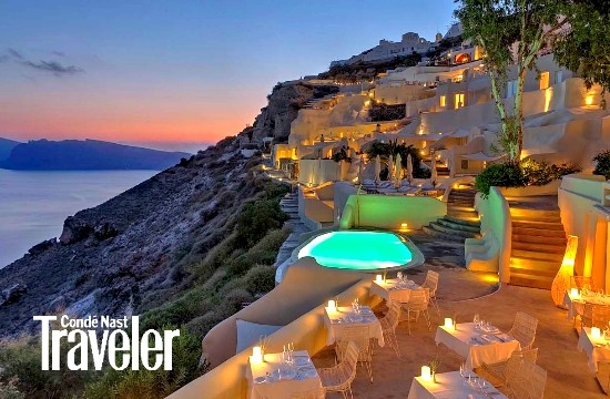 santorini cliff hotel among top 10 cnt list photos. Black Bedroom Furniture Sets. Home Design Ideas