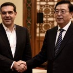 Tsipras with Zhang Dejiang