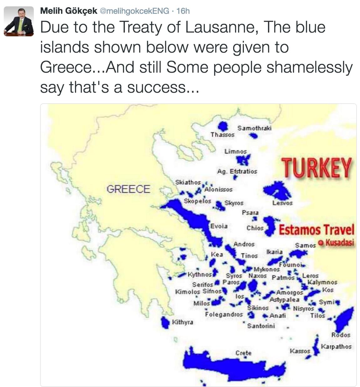 Ankara Mayor disputes Aegina and Crete as Greek islands map