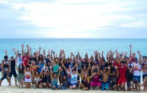 """Pic shows: Employees during the 2016 EVOLVE Annual Retreat that took place in Maldives; The MMA boss has splashed the cash to take his lucky employees on a luxury all expenses trip to the Maldives. Evolve Mixed Martial Arts founder and chairman Chatri Sityodtong states the company has seen a 30 percent year-on-year growth, and he wanted to thank his employees for their hard work and dedication. He splashed out a whopping $500,000 (392k GBP) to reward 100 employees with the five-star all-inclusive holiday to the paradise island. And this isn't the first time he has taken his workers for a treat. He calls the holidays a """"normal part of Evolve culture"""" with the group enjoying previous holidays to luxurious destinations such as Bali, Krabi, Khao Lak and Bintan in Indonesia for the past five years. He said: """"These rewards are a small token of my heartfelt gratitude to all of the phenomenal rockstars at Evolve MMA. """"Every year, I take the entire team on an all-expenses-paid trip to a five-star luxury resort at a surprise destination."""" The company's support staff and world champion trainers joined members of Evolve's fight team, including ONE Women's Atomweight World Champion Angela Lee, on the expensive getaway. """"Many of my staff would love to travel the world, but do not have the means to do so,"""" he continued. """"The vast majority of my team at Evolve come from humble backgrounds of poverty, tragedy, or adversity. For them, Evolve is the greatest opportunity to escape poverty and to achieve the life of their dreams. """"The best deserve the best. It is only fair. We do our best to hire the best people in the world, giving out only one job offer for every 200 applicants. So they should be compensated as such. We work hard, and we play hard. """"Evolve has the best team in the world. I am very confident in my team. I believe in them 100 percent."""" The entrepreneur said the holidays will continue for the foreseeable future but joked he has not yet planned 2017's spectacular just yet"""