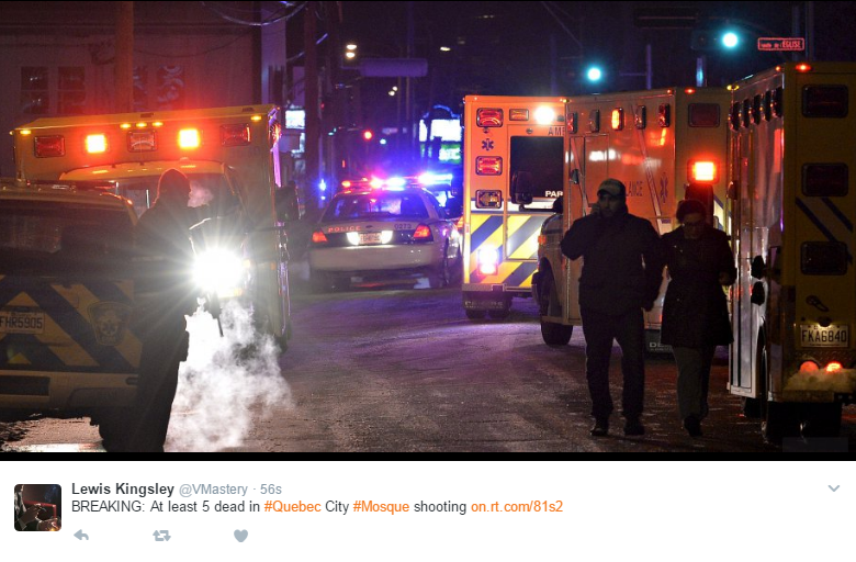 Mosque Shooting Live Stream Pinterest: Six Killed In Mosque Shooting In Canada (photos-video