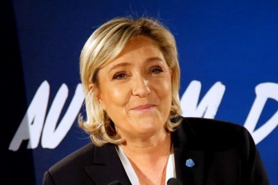 FILE PHOTO:  Marine Le Pen, French far-right National Front (FN) party president, member of European Parliament and candidate in the French 2017 presidential elections, speaks to the media in Paris, France, January 4, 2017.   REUTERS/Charles Platiau/File Photo