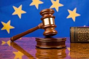 4428439 - gavel and european union flag