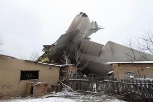 Plane debris is seen at the crash site of a Turkish cargo jet near Kyrgyzstan's Manas airport outside Bishkek, January 16, 2017.  REUTERS/Vladimir Pirogov