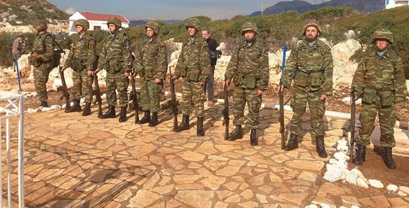 Greek soldiers choose to stay on remote islands opposite of