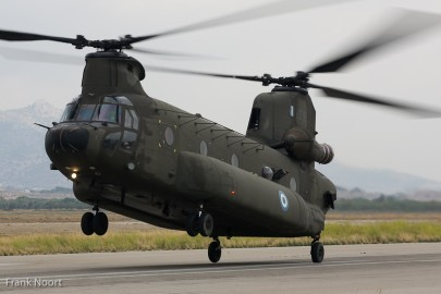 The CH-47D Chinook is an impressive machine.  Here it shows it can also dance one foot.