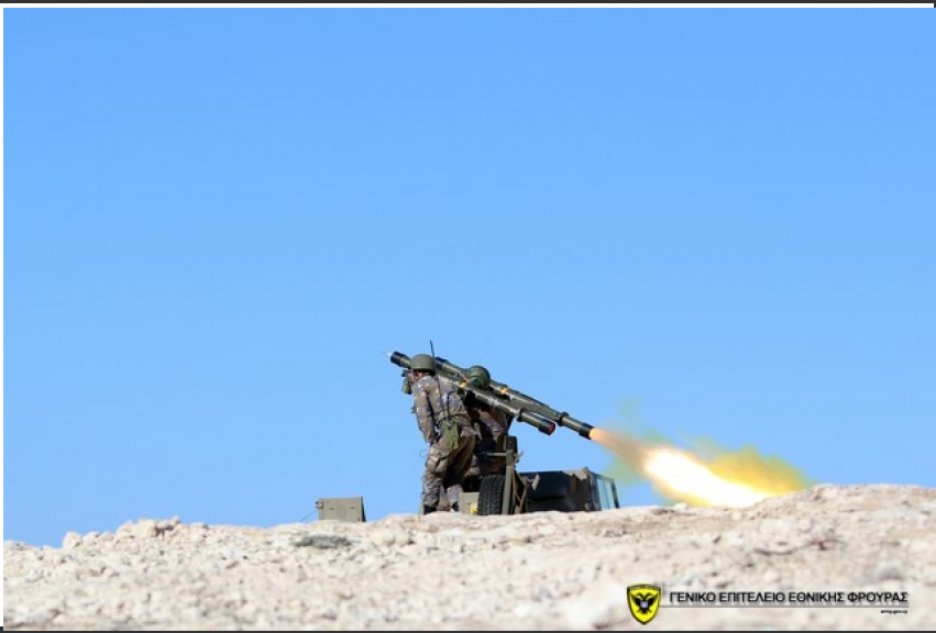 Air defense exercise with live fire by the Cyprus Armed