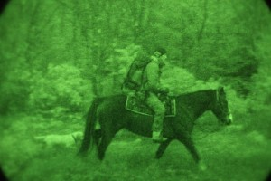 A U.S. Army Special Operations Forces Soldier assigned to 10th Special Forces Group (Airborne), conducts an infiltration movement on horseback during Exercise Ridge Runner Feb. 12, 2017 in West Virginia. Ridge Runner is an exercise hosted by the West Virginia National Guard involving U.S. and NATO special operations forces focused on unconventional warfare. (U.S. Army photo by Sgt. Connor Mendez)