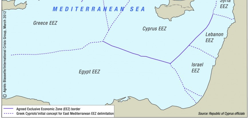 Turkey Threatens Cyprus Oil Giants ENI And TOTAL And To Annex - Northern cyprus map