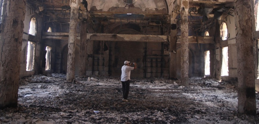 The damaged interior of the Saint Moussa Church is seen a day after it was torched in sectarian violence following the dispersal of two Cairo sit-ins of supporters of the ousted Islamist President Mohammed Morsi, in Minya, south of Cairo, Egypt, Thursday, Aug. 15, 2013. Egypt faced a new phase of uncertainty on Thursday after the bloodiest day since its Arab Spring began, with hundreds of people reported killed and thousands injured as police smashed two protest camps of supporters of the deposed Islamist president. Wednesday's raids touched off day-long street violence that prompted the military-backed interim leaders to impose a state of emergency and curfew, and drew widespread condemnation from the Muslim world and the West, including the United States. (AP Photo/Roger Anis, El Shorouk Newspaper) EGYPT OUT
