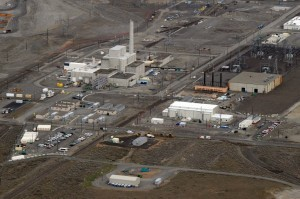 "(FILES) This file photo taken on March 21, 2011 shows a decommissioned nuclear reactor during the cleanup operations at the Western hemisphere's most contaminated nuclear site in Hanford, Washington.  Hundreds of workers at the nuclear site were ordered to take cover on May 9, 2017, after a tunnel filled with contaminated material collapsed near the facility, federal officials said. Employees at the Hanford Site plant, located about 170 miles (275 kilometers) southeast of downtown Seattle, were sent an alert by management in early morning telling them to ""secure ventilation"" and refrain from ""eating or drinking.""  / AFP PHOTO / MARK RALSTON"