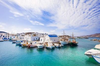 Picturesque Naousa village, Paros island, Greece