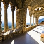 The monastery of Panayia Pantanassa at the historical site of Mystras, a Byzantine castle in Greece. The monastery is the sole inhabited temple on the site since the Byzantium era. Only women live there.