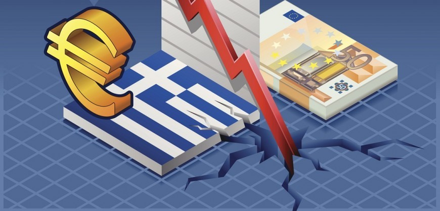 Isometric greece crisis