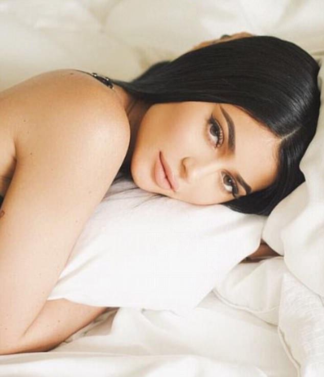 Kylie Jenner advertises lipstick showing her half-naked