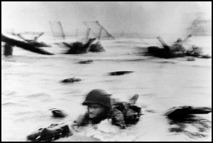 FRANCE. Normandy. June 6th, 1944. Landing of the American troops on Omaha Beach.