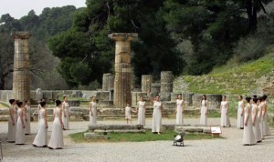 GREECE OLYMPIC FLAME CEREMONY