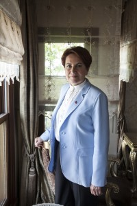 Turkish politician Meral Akşener in her home, Istanbul, Turkey, May 2017.