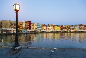 Waterfront in Chania, Greece