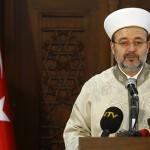 Mehmet Gormez, head of Turkey's Religious Affairs Directorate, addresses the media in Ankara January 8, 2015. REUTERS/Umit Bektas (TURKEY - Tags: POLITICS RELIGION) - RTR4KMRF