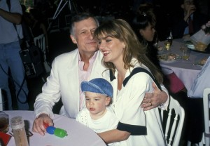 Hugh Hefner, Marsden Hefner and Kimberly Conrad (Photo by Ron Galella/WireImage)