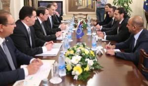 ΠτΔ – Πρωθυπουργός Λιβάνου - Διευρυμένες συνομιλίες Προεδρικό Μέγαρο, Λευκωσία, Κύπρος Ο Πρόεδρος της Δημοκρατίας κ. Νίκος Αναστασιάδης σε διευρυμένες συνομιλίες με τον Πρωθυπουργό του Λιβάνου κ. Σαάντ Χαρίρι. // PoR – Prime Minister of Lebanon - Extended talks Presidential Palace, Lefkosia, Cyprus The President of the Republic, Mr Nicos Anastasiades, holds extended talks with the Prime Minister of Lebanon, Mr Saad Al-Hariri.