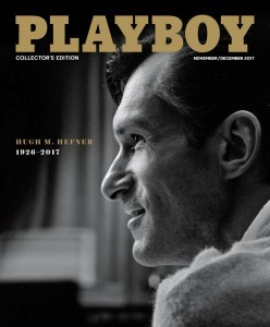 Playboy published today its November/December 2017 issue which features a special tribute to company founder and Editor In Chief, Hugh M. Hefner. (PRNewsfoto/Playboy Enterprises, Inc.)