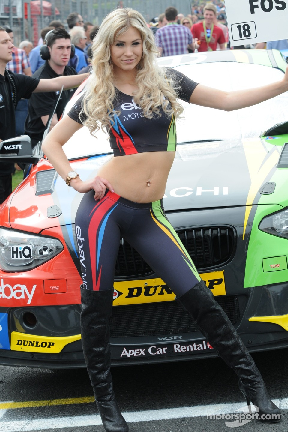 At hot nascar races girls