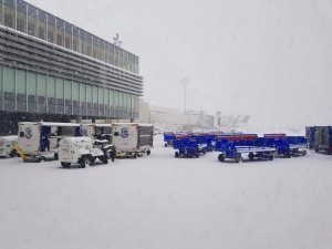 epa06416780 A handout photo made available by the Charleston International Airport on 04 January 2018 shows the effects of a rare snowfall at the Charleston International Airport in Charleston, South Carolina, USA. The rare snow, the most in thirty years for some coastal areas of the Southern US, is part of a winter storm which is rapidly strengthening into a major winter storm for the Northeast on 04 January 2018.  EPA/CHARLESTON INTERNATIONAL AIRPORT HANDOUT  HANDOUT EDITORIAL USE ONLY/NO SALES