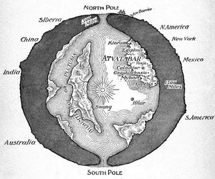 Theres a hollow earth conspiracy theory it makes flat earthers map of the interior world gumiabroncs Gallery