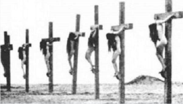 crucified armenian women1
